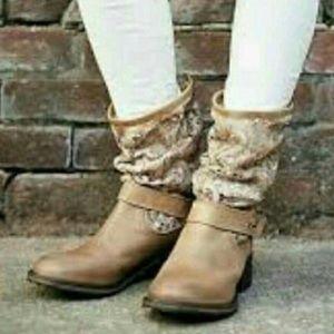 Free People Crochet Boots